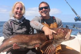 a monster Ling Cod